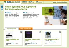 Screenshot of the CAST UDL Studio home page