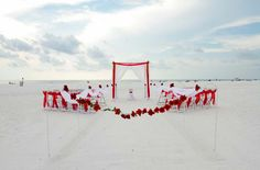 Clearwater beach weddings by Suncoast Weddings, themed with romance in mind