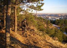 Mountain bike on one of the many trails in #RapidCity #SouthDakota and the #BlackHills