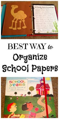 Best Ways to Organize Kids School work inexpensively. THIS has saved my sanity when saving things for all 3 of my children!