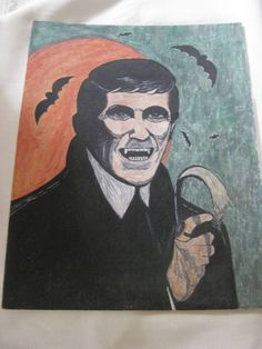 Vintage Dark Shadows Barnabas Collins Painting by VintageByThePound on Etsy