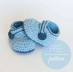 20.blue crochet baby bootie boy free pattern