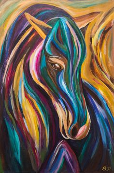 Hey, I found this really awesome Etsy listing at https://www.etsy.com/listing/251623323/polychrome-pony-horse-painting-on-canvas