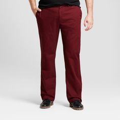 Men's Big & Tall Straight Fit Hennepin Chino Pants - Goodfellow & Co Burgundy (Red) 46x32
