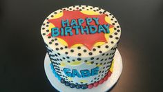 Comic Book Birthday Cake by Retro Bakery in Las Vegas,