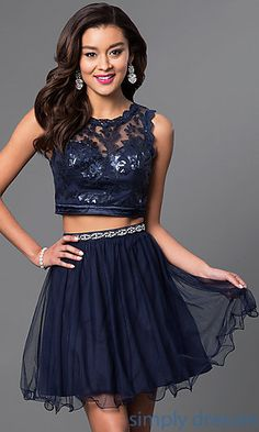 Shop navy-blue homecoming dresses and sweet-16 dresses at Simply Dresses…
