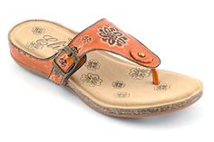99fc52018 Corkys Footwear Womens Elite St Louis Thong Flip Flops Amber Leather Sandals  10  gt  gt