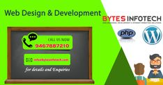 www.bytesinfotech.com a custom #chandigarh based #website design #company serving clients across all over #INDIA. We specialize in #website design services, #online marketing, and branding. Our team takes pride in providing high quality work that has made us a top #web #design company. Our guarantee and the way we do business is simple. For more information get in touch with our #experts at 91-9467887210 Or visit www.bytesinfotech.com