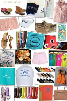 The Preppy Bible: L.L.Bean, Southern Tide, Lilly Pulitzer, Sperry, Vineyard Vines, Titleist, Coastal Pride, Jack Rogers, Patagonia, J.Crew, Tory Burch, Hunter, Southern Marsh, Country Club Prep, Vera Bradley, The Frat Collection, Alex & Ani, Kate Spade, Southern Proper, Polo Ralph Lauren, Eddie Bower
