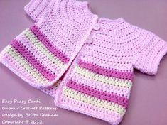 Crochet Baby Jacket Pattern Easy Peasy Cardigan por bubnutPatterns