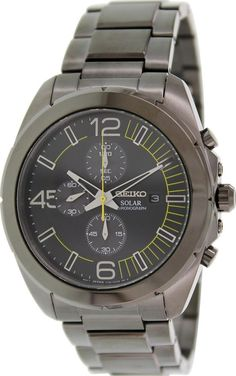 Model number: SSC217. Display Type: Chronograph. This Men's watch from the Solar collection features a Black Stainless steel Bracelet and Black Chronograph dial. Special features: Chronograph. | eBay!