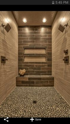 Nice! Of course my entire bathroom is smaller than this shower so maybe the colors are too dark