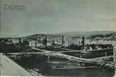 Zagreb - 1900-tih - Mihanovićeva - sada Hotel Esplanade i Starčevićev trg