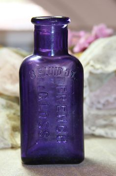 PURPLE BOTTLE Whittemore Boston French Gloss by VintageSupplyCo
