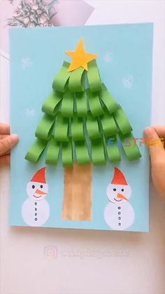 Christmas Arts And Crafts, Winter Crafts For Kids, Preschool Christmas, Paper Crafts For Kids, Craft Activities For Kids, Christmas Activities, Xmas Crafts, Preschool Crafts, Kids Christmas