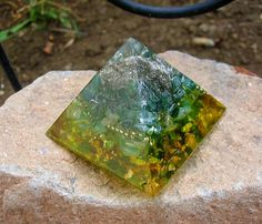 Stay on the Path Orgone Energy Pyramid Small by TwoChez on Etsy, $29.00