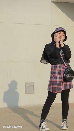 Modern Hijab Fashion, Street Hijab Fashion, Hijab Fashion Inspiration, Muslim Fashion, Ootd Fashion, Korean Fashion, Fashion Outfits, Retro Outfits, Korean Outfits