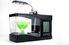 USB Desktop Aquarium moi j'ai mis un poisson combattant il adore !! filtration + bulles inclus
