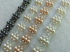 Vintage Charm  Swarovski Pearl and Crystal by TapestryBeadwork,