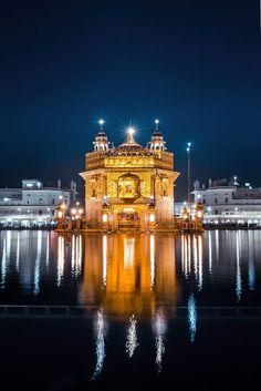 Golden Temple by Manvir Singh Sri Guru Granth Sahib, Guru Granth Sahib Quotes, Goa India, Sikhism Religion, Guru Nanak Wallpaper, Taj Mahal, Harmandir Sahib, Golden Temple Amritsar, Guru Pics