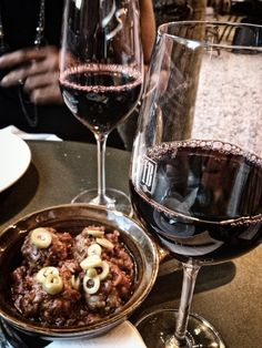 Spanish meatballs and red wine at Ibérica La Terraza, Cabot Square Spanish Meatballs, Al Fresco Dining, Spanish Food, Red Wine, Tapas, Food Photography, Alcoholic Drinks, Breakfast, Morning Coffee