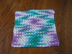 Ravelry: Crunch Stitch Washcloth pattern by dvorah