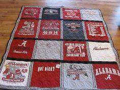 T Shirt Alabama Quilt Size 66x71 Finished | eBay