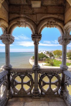 Torre de Belém, Lisboa, Portugal --- Lounge note: Take notice of the architecture. Places Around The World, The Places Youll Go, Places To Visit, Portugal Travel, Spain And Portugal, Dream Vacations, Vacation Spots, Belem Portugal, Wonderful Places
