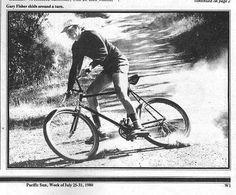 1980 - Gary Fisher skids around a turn ...