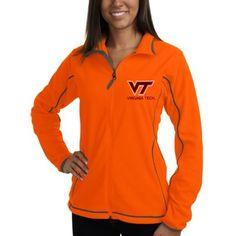 Women's Virginia Tech Hokies Antigua Orange Ice Fleece Jacket