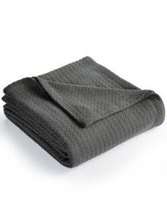 Lauren Ralph Lauren Classic 100% Cotton Full/Queen Blanket - Charcoal