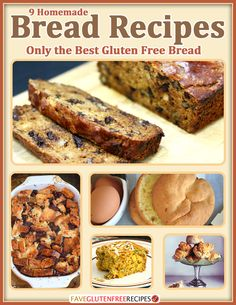 9 Homemade Bread Recipes: Only the Best Gluten Free Bread | Gluten free bread recipes don't have to be tasteless! These breads are must-makes!