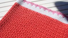 Crochet blanket in wattle stitch.