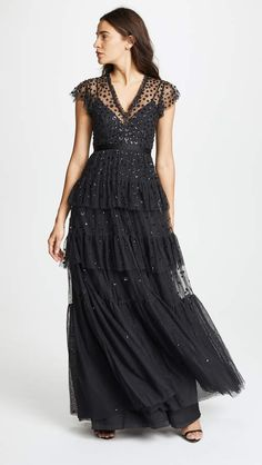 Needle Thread Mirage Gown And Formal Dresses Black Weddings Fashion