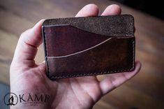 Leather credit card holder / wallet