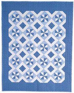 Friday Freebie: Blue Breeze Classic Lap Quilt Pattern