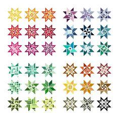Unisono Stickvorlagen - Stern-Designs