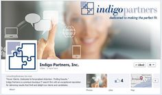 Indigo Partners launches a new Facebook page that conveys their specialty in IT recruiting.