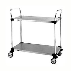 Amazon.com - InterMetro Stainless Steel Commercial Utility Cart with 2 Shelves 24x36 Utility Shelves, Utility Cart, Hard Cider Recipe, Hard Apple Cider, Kitchen Cart, Commercial, Stainless Steel, Amazon, Amazons
