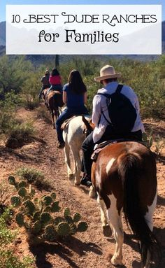 Have you gone on a family dude ranch vacation? Here are the 10 best dude ranches for families. Kids will love horseback riding and rodeos, even cookouts. Winter Family Vacations, Family Travel, Cheap Family Vacations, Family Trips, Dude Ranch Vacations, Best Vacations, Country Musicians, Horseback Riding, So Little Time