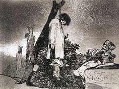 """Goya, Désastres de la guerre """"Ici non plus"""" n°36 (1812)"""