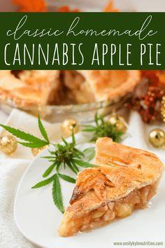 Marijuana Recipes, Cannabis Edibles, Incredible Edibles, Apple Pie Recipes, Homemade Pie, Crust Recipe, Coconut Oil, Cooking, Healthy
