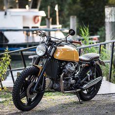 """bikebound: """" On BikeBound.com: '83 Honda #CX500 #scrambler by @jeroen_k. Built largely in his living room! ⚡️Link in Profile⚡️ : @markmeisner """""""