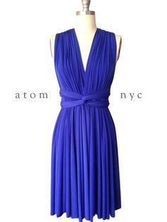 Royal Blue SHORT Infinity Dress Convertible Formal Multiway Wrap Dress Bridesmaid Dress Party Cocktail Evening Dress Wedding Knee Length Royal Blue Infinity Dress Convertible Formal by AtomAttire on Etsy Blue Bridesmaids, Blue Bridesmaid Dresses, Blue Wedding Dresses, Blue Dresses, Dress Wedding, Wedding Attire, Trendy Dresses, Short Dresses, Dress Long