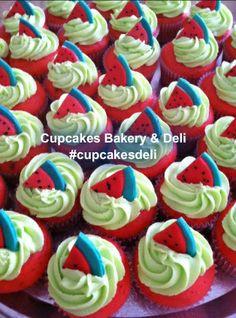 #cupcakesdeli Watermelon #cupcakes for Syngenta Seed Co., Pasco, WA - www.cupcakesdeli.com