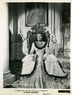 Tallulah Bankhead in Royal Scandal wearing Joseff Hollywood Jewelry