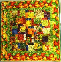 Farmers Market Fruit & Veggie Quilt Wall by SeamsSewCharming, $34.00