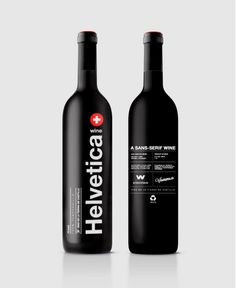Helvetica #wine #packaging by wildwildweb #vino #spanishdesign