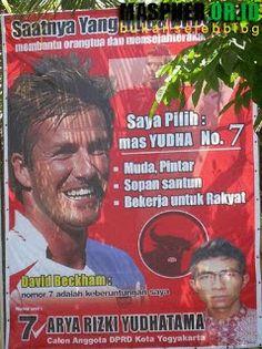 Caleg David Beckham