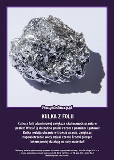 KULKA Z FOLII ALUMINIOWEJ ZWIĘKSZA SKUTECZNOŚĆ... Garden Projects, Diy Projects, Guter Rat, Simple Life Hacks, Green Cleaning, Natural Cosmetics, Home Hacks, Good Advice, Good To Know